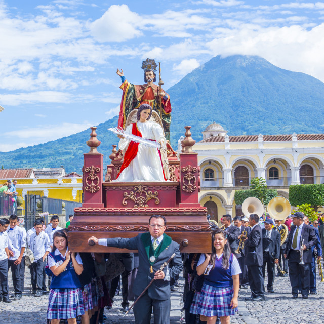 """The Patron Saint of Antigua procession"" stock image"