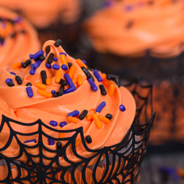 """Halloween cupcakes"" stock image"