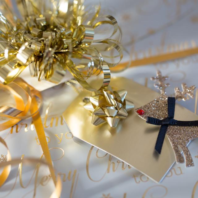 """""""Christmas Gift Box"""" stock image"""