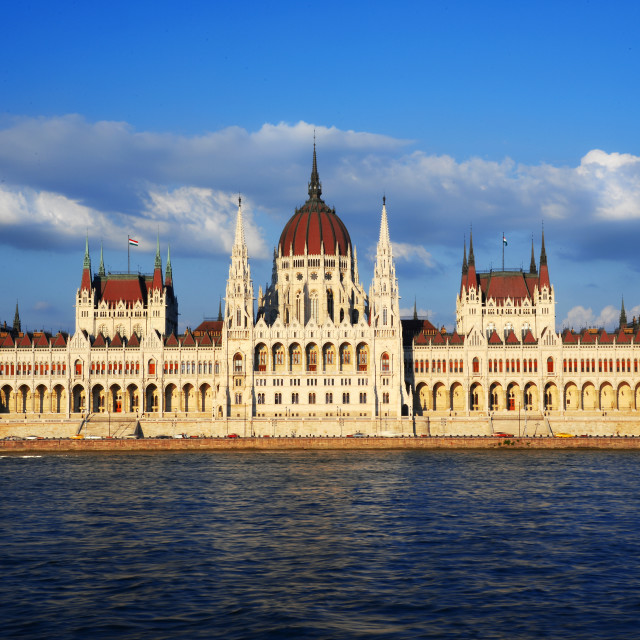 """Hungarian Parliament Building in Budapest"" stock image"