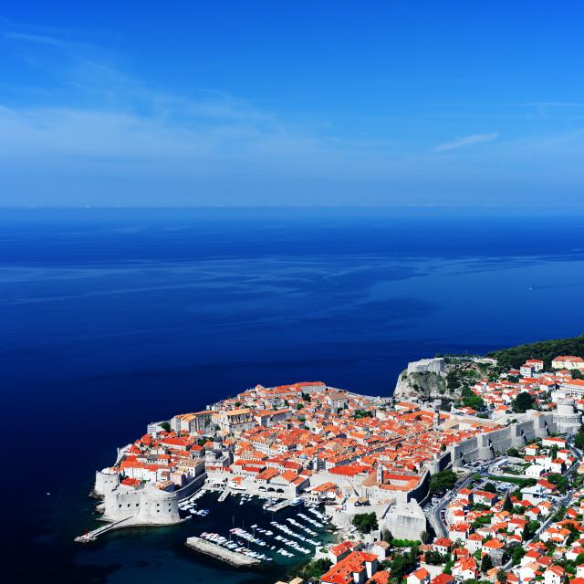 """""""Aerial view of Dubrovnik, Croatia"""" stock image"""