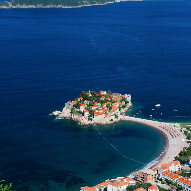 """Sveti Stefan island near city of Budva, Montenegro"" stock image"