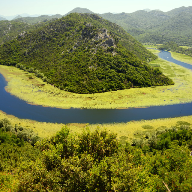 """Skadarsko jezero, Montenegro, the largest lake in the Balkans"" stock image"