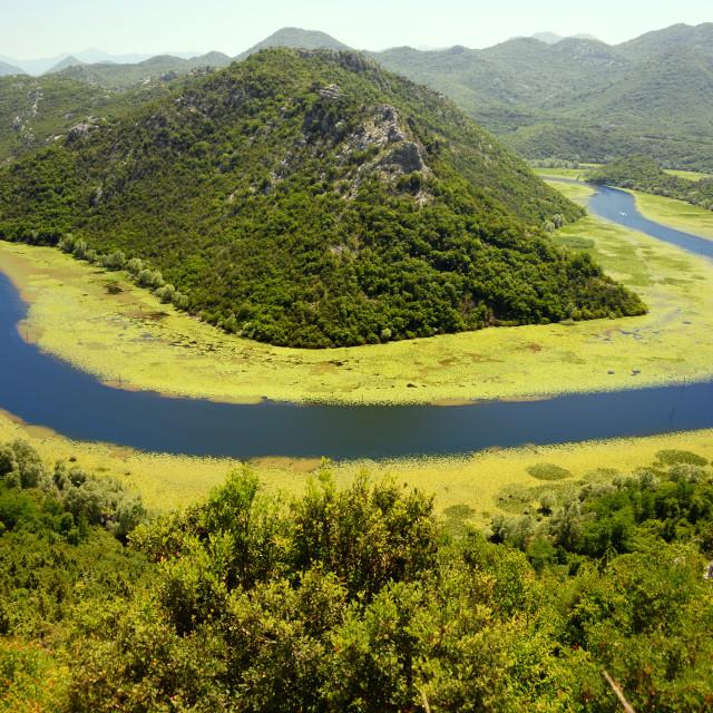 """Skadarsko jezero, Montenegro, the largest lake in the Balkans"" stock image"