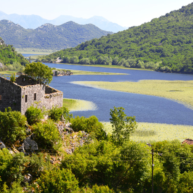 """""""Karuc village on Lake Skadar, Montenegro"""" stock image"""