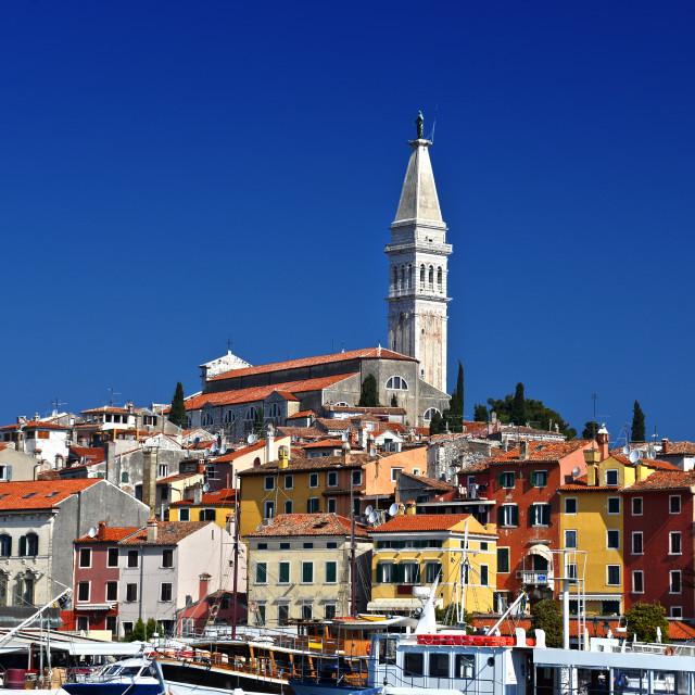 """""""Old Town Of Rovinj On Istrian Peninsula, Croatia"""" stock image"""