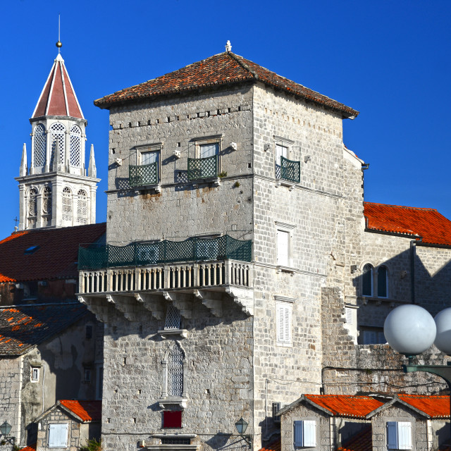"""Old town of Trogir in Dalmatia, Croatia on Adriatic coast"" stock image"