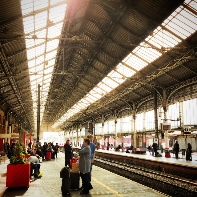 """Preston Train Station"" stock image"