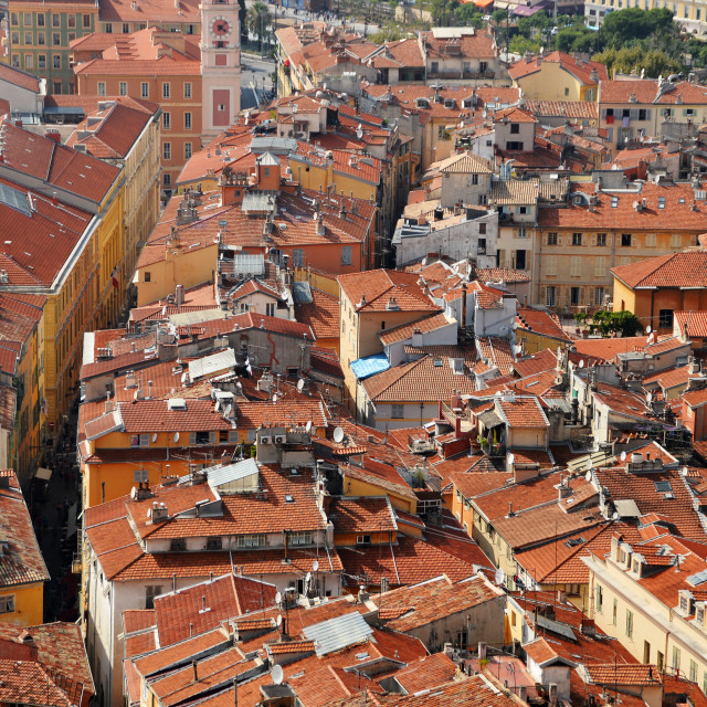"""""""Old town architecture of Nice on French Riviera"""" stock image"""