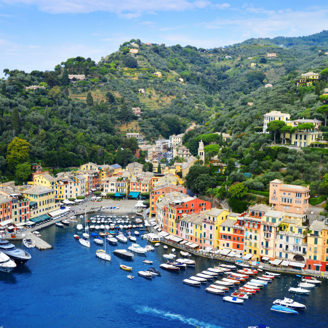 """City of Portofino, Liguria, Italy"" stock image"
