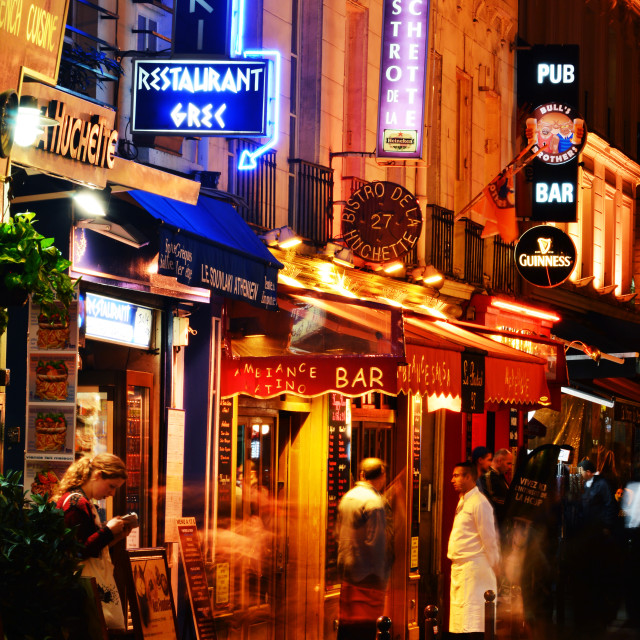 """""""Famed for its nightlife Paris has about 40 000 restaurants"""" stock image"""