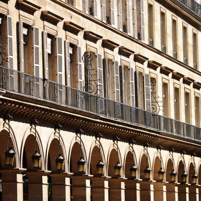 """""""Original historic Parisian architecture"""" stock image"""