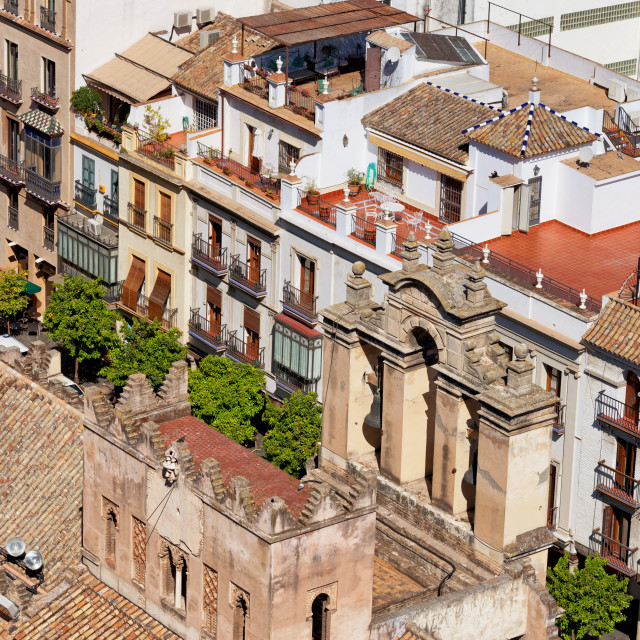 """""""Old Town of Seville in Spain"""" stock image"""