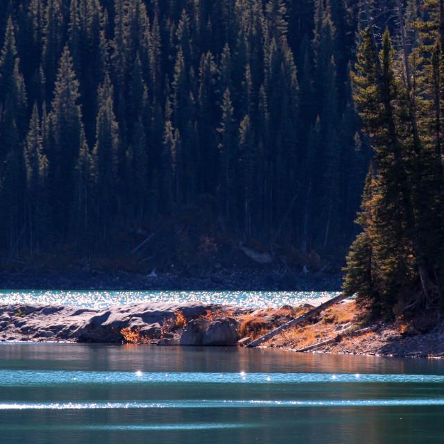 """Upper Kananaskis Lake"" stock image"