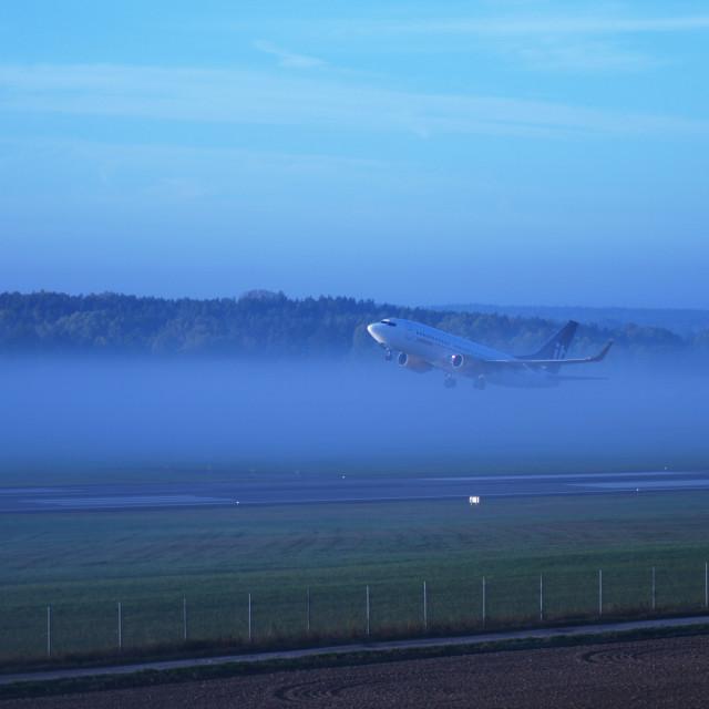 """""""Boeing 737 JetTime (NRK)"""" stock image"""