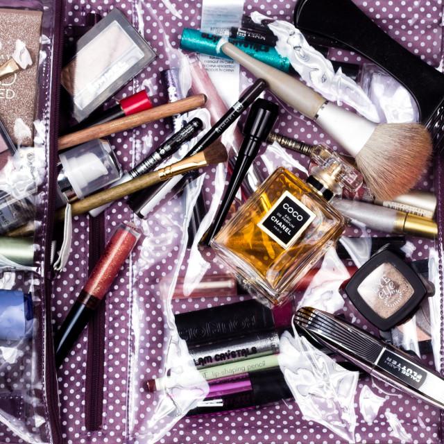 """""""Make Up Bag"""" stock image"""
