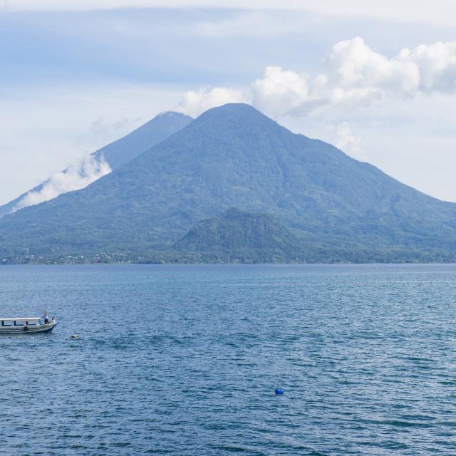 """""""Lake Atitlan"""" stock image"""