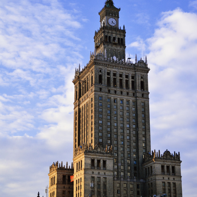 """Palace of Culture and Science in Warsaw, Poland"" stock image"