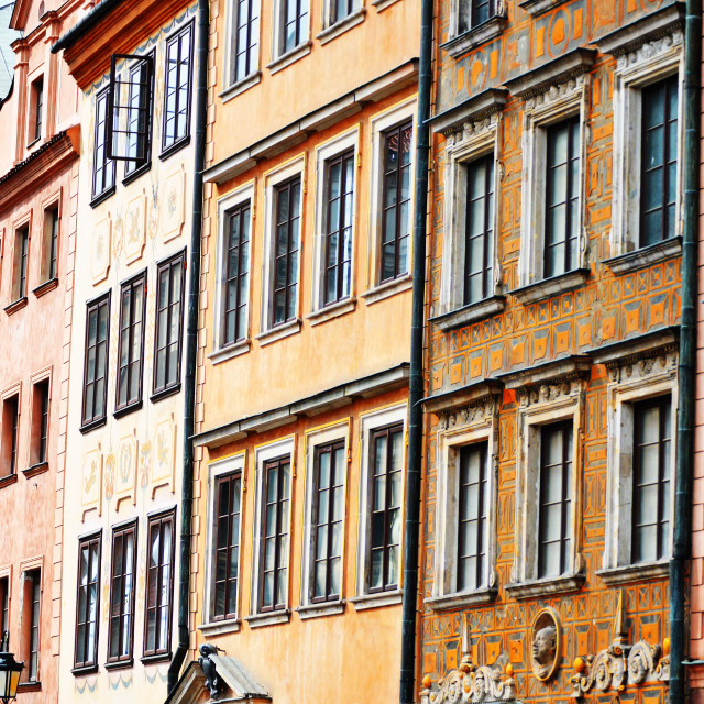 """Architecture of Old Town in Warsaw, Poland"" stock image"