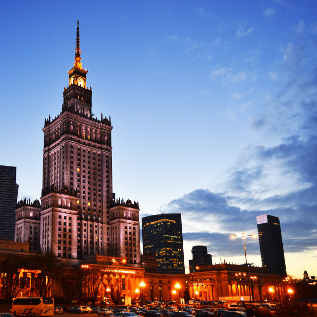 """""""Palace of Culture and Science in Warsaw, Poland"""" stock image"""