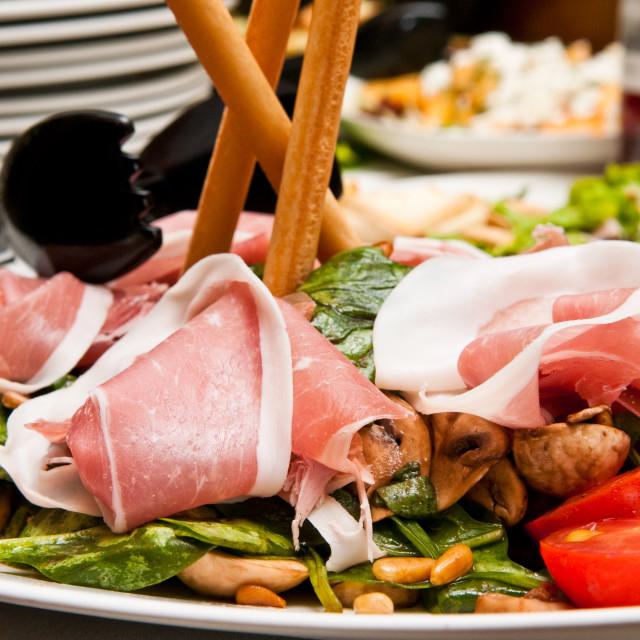 """Ham Salad"" stock image"