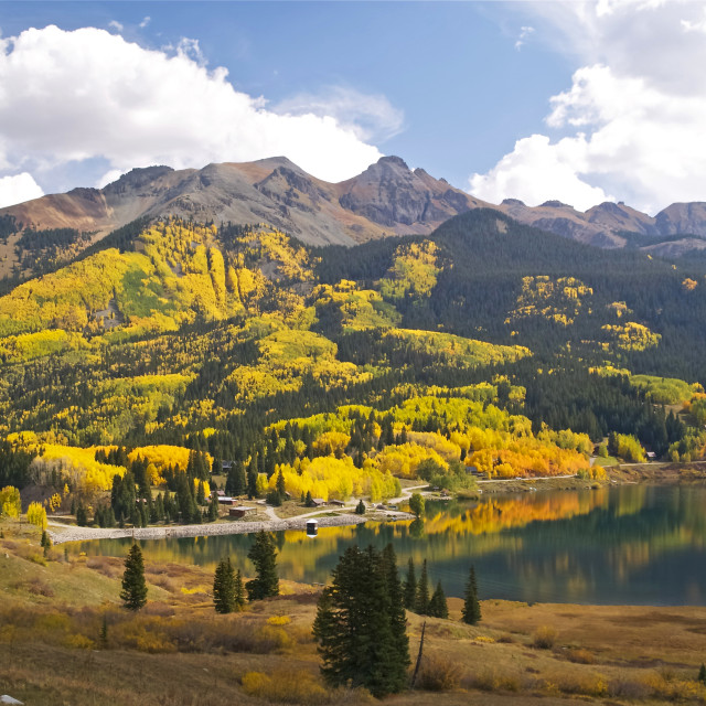 """The San Juan Mountains"" stock image"
