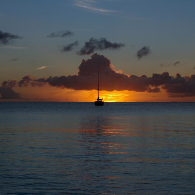 """""""Blue Sunset"""" stock image"""