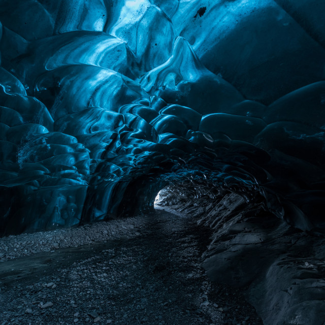 """""""Inside an Ice cave in Iceland"""" stock image"""