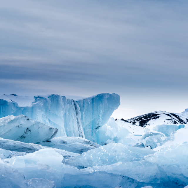 """icebergs at jokulsarlon icelagoon, Iceland"" stock image"