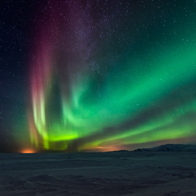 """Aurora borealis, Northern Lights"" stock image"
