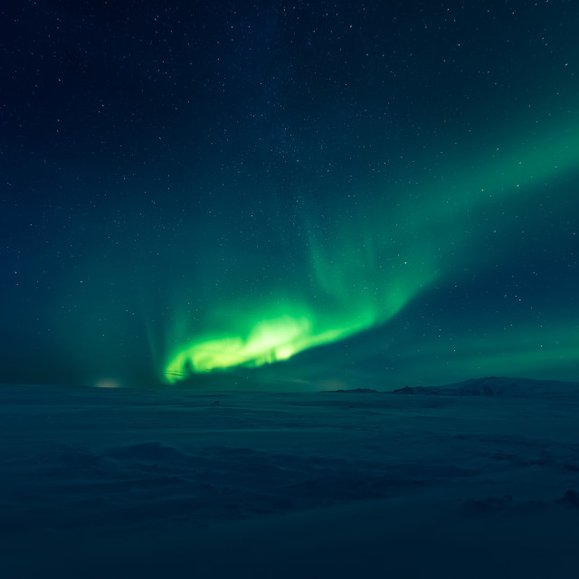 """Aurora borealis, northern lights"" stock image"