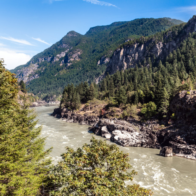 """Canada - British Columbia - The Thompson River"" stock image"