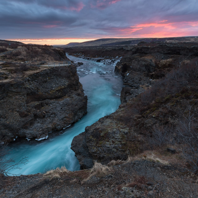 """""""blue river and sunset"""" stock image"""