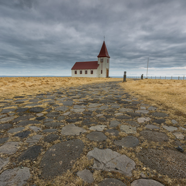 """""""the lonely church"""" stock image"""