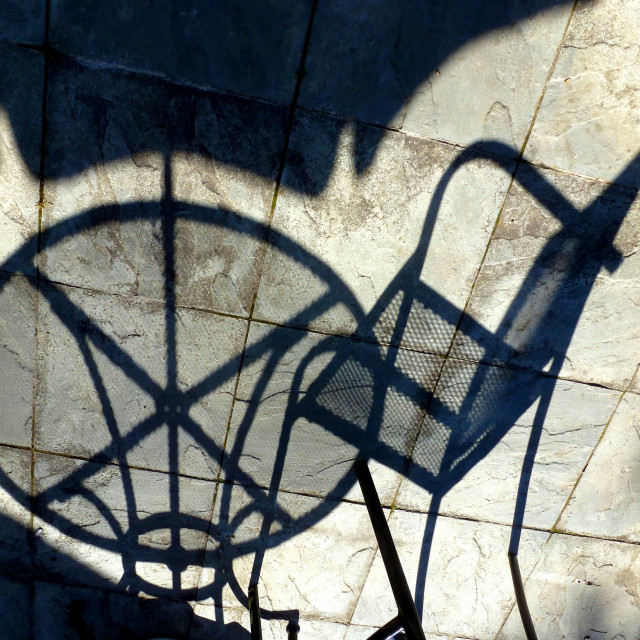 """""""Table and chair shadows"""" stock image"""