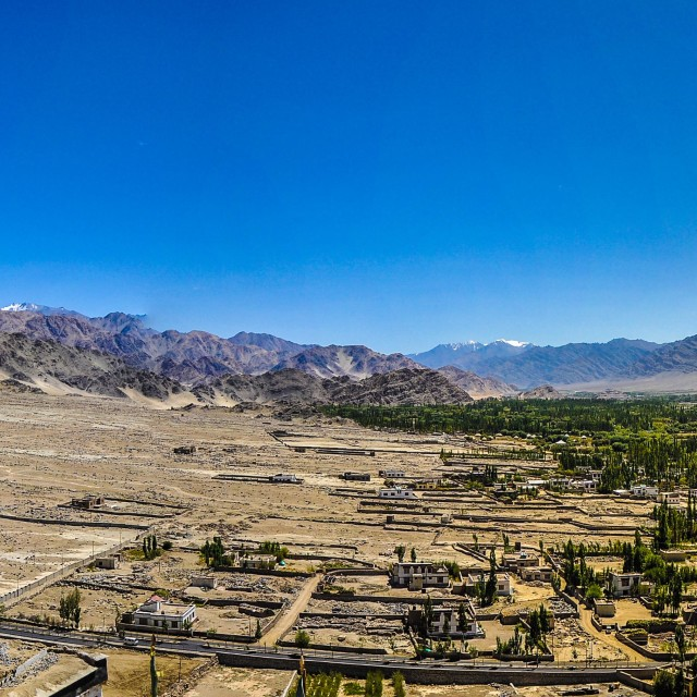 """""""From Thiksey Gompa"""" stock image"""
