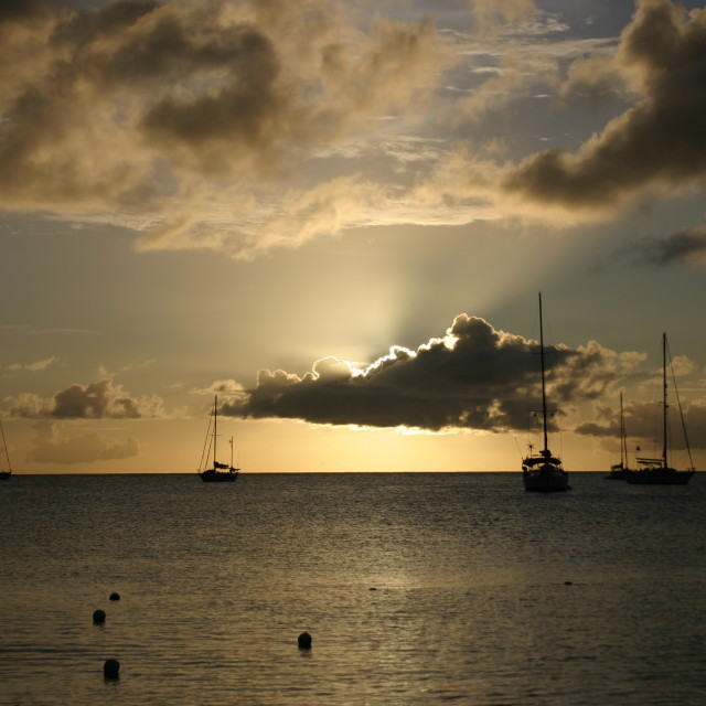 """St Lucia Sunset"" stock image"