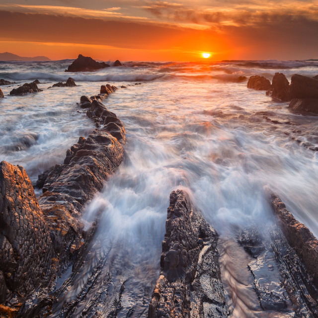 """Barrika sunset"" stock image"