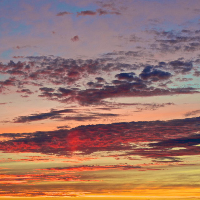 """""""Colourful sky"""" stock image"""