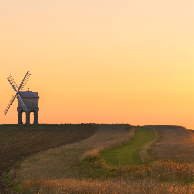 """Golden light at Chesterton Windmill"" stock image"