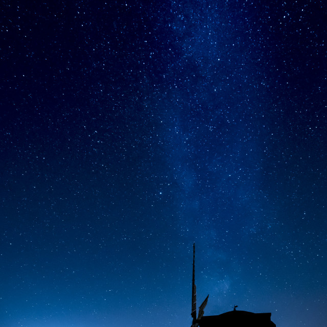 """""""Milky Way over Chesterton windmill"""" stock image"""