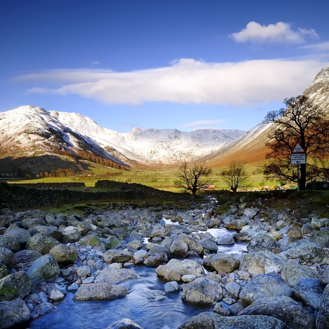 """""""Langdale Valley"""" stock image"""