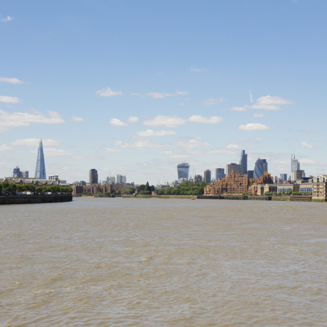 """London's Skyline, as viewed from Canary Wharf"" stock image"