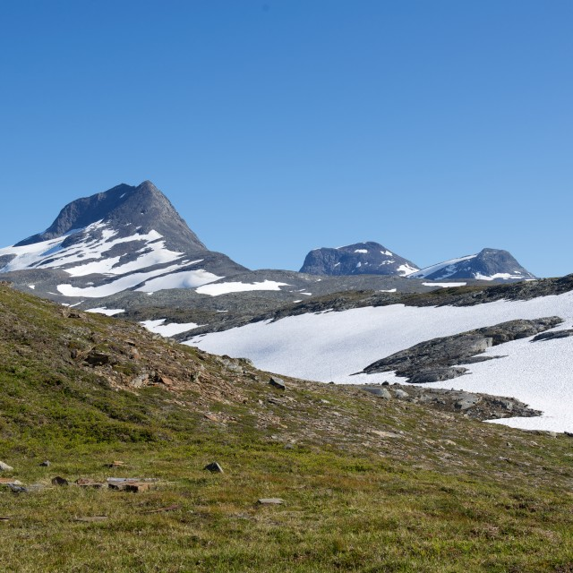 """""""summer, snow and mountains"""" stock image"""