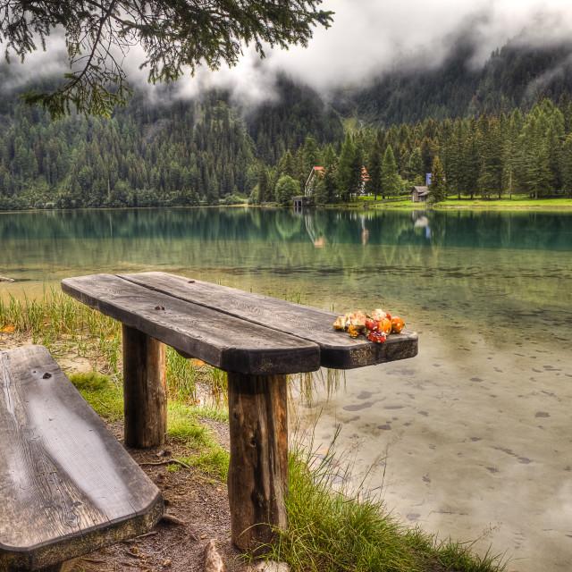 """""""Anterselva Lake (Antholzer_See) Italy"""" stock image"""