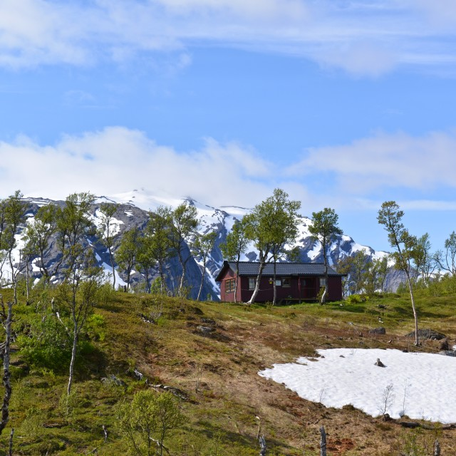 """""""small hut in the mountains"""" stock image"""