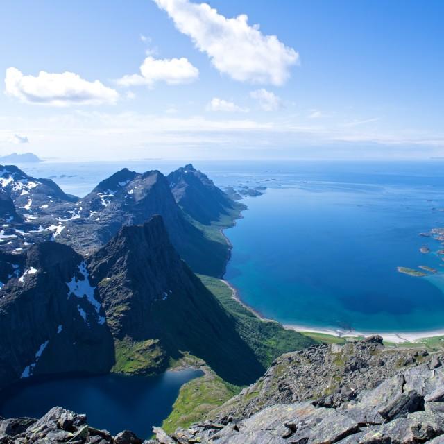 """""""Mountain view in Steigen"""" stock image"""