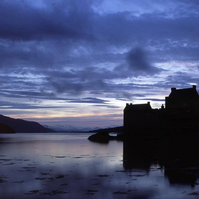 """Eilean Donan Castle over Loch Duich."" stock image"