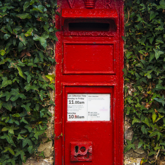 """Victorian Post box."" stock image"