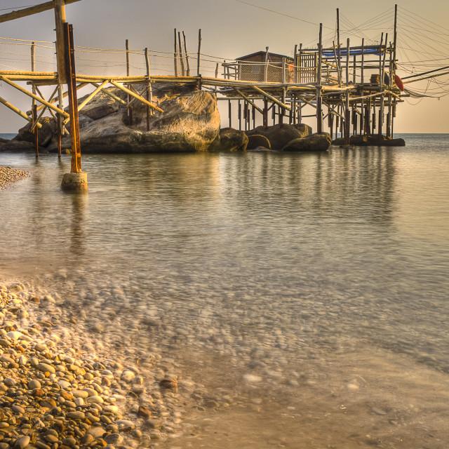 """""""Trabocco Punta le Morge Torino di Sangro Chieti Italy"""" stock image"""